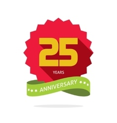 Years 25 anniversary label logo badge vector