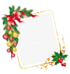 Christmas letter decoration vector image