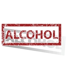 Alcohol outlined stamp vector