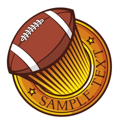 american football club emblem vector image