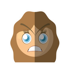angry emoticon cartoon design vector image
