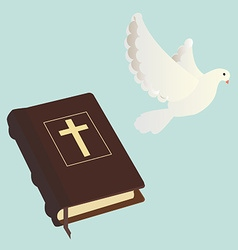Bible and pigen vector image