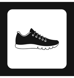 Black sneaker icon simple style vector image vector image