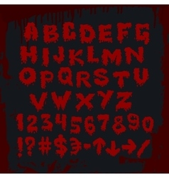 Bloody alphabet and other signs vector image