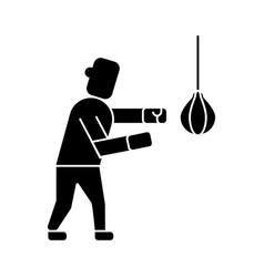 boxing icon black sign on vector image vector image