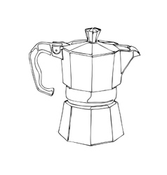 Coffee Percolator clip art hand drawn vector image vector image