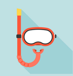 diving mask and snorkel icon vector image vector image