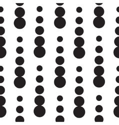 Geometric seamless dot drops pattern in black and vector image vector image