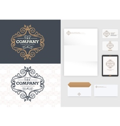 Luxurious logo design Real estate vector image