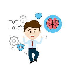 mental health person with tips care brain vector image vector image