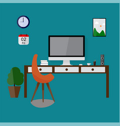 Modern design workspace vector