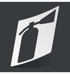 Monochrome fire extinguisher sticker vector
