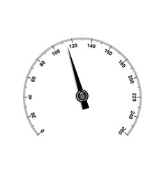 Needle speedometer with black numbers vector