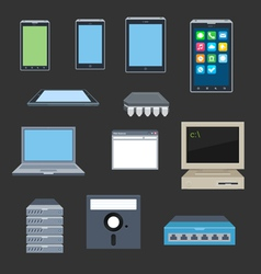 Old and new gadgets vector