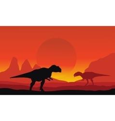 On the desert mapusaurus scenery vector