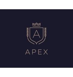 Premium monogram letter a initials ornate vector