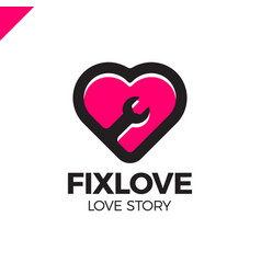 repair love logo design element vector image
