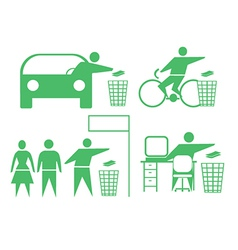 Rubbish icons vector image