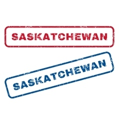 Saskatchewan Rubber Stamps vector image vector image