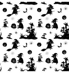 Seamless Pattern Halloween Symbols vector image