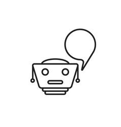 Thin line black chatbot logo vector