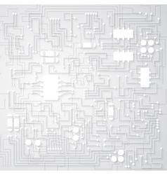Tridimensional circuit board vector