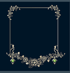 Vintage frame with birds vector