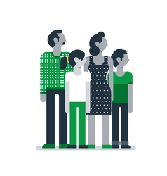 Family members standing together parents children vector