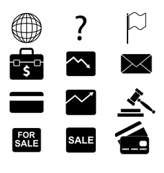 icons 9 vector image