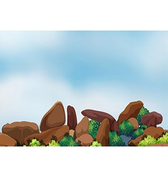 Big rock formation vector