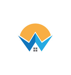 W letter property logo vector