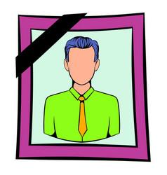 photo of deceased icon icon cartoon vector image