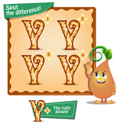 Spot the difference letters y vector