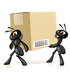 Ants Delivery vector image