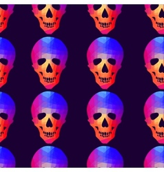 Seamless background with geometric skull vector