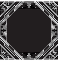 Art deco silver vector