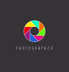 Colored aperture of the camera lens photo studio vector