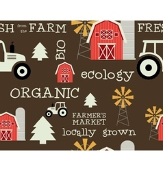 Eco and organic seamless pattern farmer s market vector