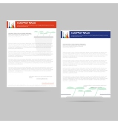 Letter template for company vector