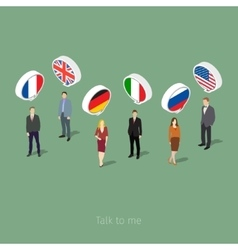 Concept of business travel or studying languages vector
