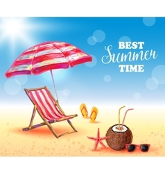 Best summer time poster vector