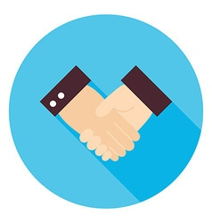 Business handshake circle icon vector