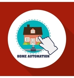 Home automation design smart house icon house vector