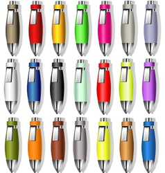 Souvenir color pens vector