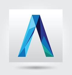 A type flat logo icon vector