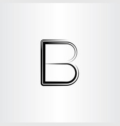 b black letter font icon vector image