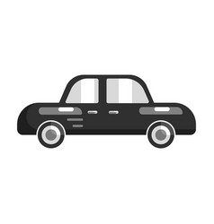black car side view flat vector image