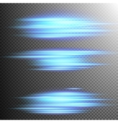 Blue lights lines effect lens eps 10 vector