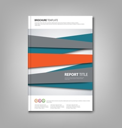 Brochures book or flyer with abstract design vector image vector image