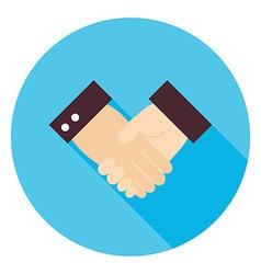 Business handshake circle icon vector